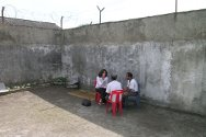 Becora Prison, Dili, Timor Leste. Private interview with a detainee.