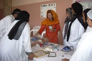Training at Mirwais hospital in Kandahar.