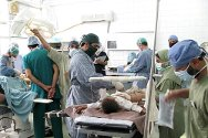 Photo: operating theatre in Mirwais hospital, Kandahar.