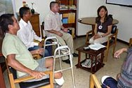 Focus group discussion with mine victims at the ICRC office of Medellin.