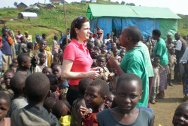 Eastern DRC. Kristin Barstad visits children in a