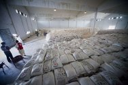 ICRC/PRCS warehouse, Sibi. The warehouse can store up to 50,000 food packages for the people of eastern Balochistan.