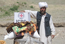 Ghor province, Tulak district. Relief distribution to people affected by floods.