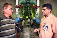 The ICRC rehabilitating a water-treatment plant at Qadissiya in Baghdad.