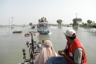 The Pakistan Red Crescent Society and the ICRC are working together to assess the needs of people affacted by floods in Shikarpur and Jacobabad, Sindh.