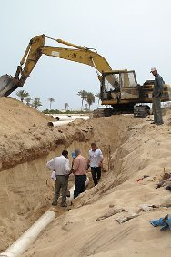 The upgrading of the Rafah wastewater-treatment plant on the Gaza Strip nears completion.