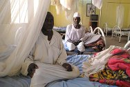 Nyala, South Darfur. The dormitory of the Nyala orthopaedic rehabilitation centre can host up to twelve patients.