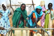 Women at a camp for displaced people in Darfur, Sudan