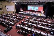 Geneva, Switzerland. A plenary session of the 31st International Conference of the Red Cross and Red Crescent, which will consider an ICRC resolution addressing the vast humanitarian challenge of violence against health-care workers, patients and structures.