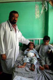 Mirwais hospital, Kandahar. Dr Alem Shefa, who is working on research into Thalassemia in children at the hospital.