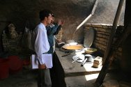Sar-i Pul prison. Part of the kitchen built by the ICRC.