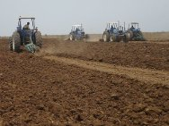 Eritrea. ICRC-hired tractors plough fields in the Gash Barka region.