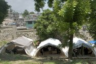 Carrefour-Feuilles, Port-au-Prince. Before the earthquake, this hospital consisted of several well-equipped buildings. Today, it offers out-patient services, using 10 tents supplied by the ICRC.