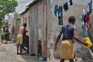 A family courtyard in Cité Soleil, Port au Prince.