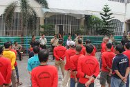 Labuhan Deli Prison, Medan, North Sumatra, Indonesia. The inmates in charge of the various rooms are briefed about the scabies programme.