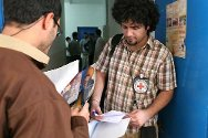Fort Suse, Sulaymaniyah Governorate. An ICRC delegate visits detainees and distributes Red Cross messages.