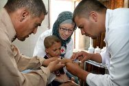 Sadr Hospital, Najaf, Najaf Governorate. Doctors and nurses take part in training organized by the ICRC.