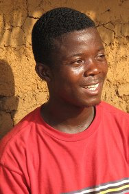Dulay Town, Nimba County, Liberia. Alphonso Voker, who rescued a badly-injured Joseph from the bush.