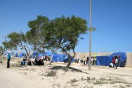 Misrata, Libya. Stranded foreign nationals wait near the port.