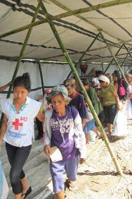 The ICRC and Philippine Red Cross distributed two weeks' food to 48,000 people in Northern Samar during February 2011.