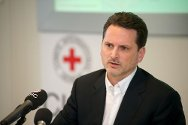 31 March 2011. Pierre Krähenbühl, ICRC's director of operations, during a press conference in Geneva.