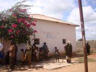 Somalia, Middle Juba Region, Jilib. A therapeutic feeding centre run by the Somali Red Crescent Society.