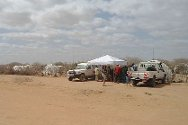 Dadaab refugee camp, Kenya. The ICRC/KRCS mobile tracing team