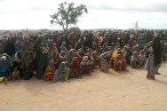 Ufurow, Somalia. Families in need wait for food to be distributed.