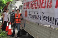 Bangkok, Thailand. An ICRC team sets out to assess needs at Pathum Thani Prison, north of Bangkok.