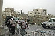 An ICRC and Yemen Red Crescent team retrieved approximately 20 dead bodies from the southern part of Sana'a following heavy fighting on 3 June.