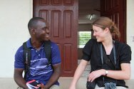 Winston Daryoue, 23, Liberia and Polly Fields, 25, United Kingdom.