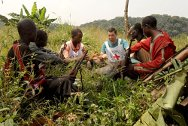 In the Kivus, DR Congo. ICRC delegates meet with armed combatants to talk about the basic principles of international humanitarian law.