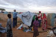 Beletweyn-Hiiraan, central Somalia. ICRC provided essential household items to the victims two days after the flood.