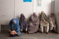 Mirwais Regional Hospital, Kandahar, Afghanistan. Patients wait their turn.