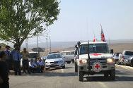 Armavir, Armenia. Training ground of the Armenian Armed Forces. Getting ready to enter the exercise area.