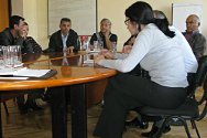 ICRC delegation, Baku, Azerbaijan. Families of missing persons meet to discuss their common experiences and offer each other support.