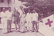 Dhaka, Bangladesh. Monwara Sarkar with her Movement colleagues in 1971.