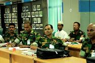 "Bangladesh Institute of Peace Security Operational Training (BIPSOT), Gazipur, Bangladesh. When peacekeepers deploy to armed conflict situations, they must comply with international humanitarian law. Since 2010, the ICRC delegation in Bangladesh has conducted four ""train the trainer"" courses with BIPSOT, teaching military personnel about IHL before they deploy on such missions."