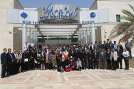 Kish, Iran. Participants at the South Asian Teaching Session on International Humanitarian Law pose for a group photo outside the convention centre.