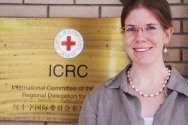 Valerie Meredith, the Regional Adviser on RFL activities for the ICRC in the Asia-Pacific region.