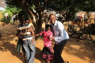 DR Congo, Lubumbashi / Katanga. This father is overjoyed to be reunited with his children after five years spent apart.