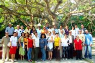 The course participants – health professionals from various provinces in Cuba and three invitees from the National Red Cross Societies of El Salvador, Guatemala and Honduras.