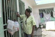 Civilian prison, Port-au-Prince, Haiti. Sandra Martin visits the prison.