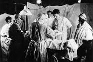 Eritrea: surgical operation in a field hospital.