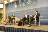 Elizabeth Ferris, Vanda Felbab-Brown, Marco Sassòli and Vincent Bernard at Brookings.