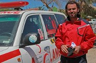 Libya. Mohsen Ibrahim, a volunteer ambulance driver at the Libyan Red Crescent.