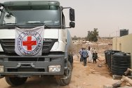 Sabha, Libya. The ICRC was the first organization to enter Tayouri, a district of Sabha, trucking in drinking water on 1 April 2012.