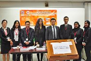 Hong Kong. The Malaysian team with mooters from the other countries participating in the 10th IHL moot.