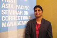 Kausalya Devi, Head of Parole and Community Services, Malaysian Prisons Department, at the Asia-Pacific Seminar on Correctional Management held in Manila on 20 and 21 November 2012.