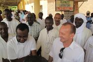 Gao Hospital, Mali. Jean-Nicolas Marti, head of the ICRC delegation that covers Mali, meets hospital personnel.